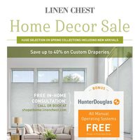 Linen Chest - Home Decor Sale Flyer