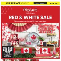 Michaels - Red & White Sale Flyer