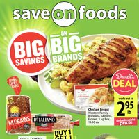 Save On Foods - Weekly Specials - Big Savings on Big Brands Flyer