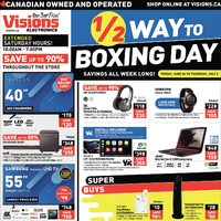 Visions Electronics - Weekly - 1/2 Way To Boxing Day Flyer