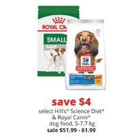 Hill's Science Diet & Royal Canin Dog Food