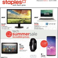 Staples - Weekly - Tech Summer Sale Flyer