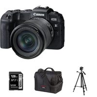 Canon EOS RP Mirrorless Camera With 24-105mm RF STM Lens Kit, Tripod, 128GB Memory Card And Canon 700SR DSLR System Bag