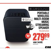 Bluesound Portable Wireless Multi-Room Music Streaming Speaker