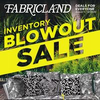Fabricland - Inventory Blowout Sale Flyer