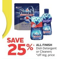 All Finish Dish Detergent Or Cleaners
