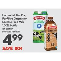 Lactantia Ultra Pur, PurFiltre Organic Or Lactose Free Milk