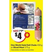One World Halal Deli Chubs Or Sliced Meat