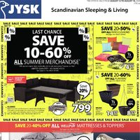 JYSK - Clearance Sale Flyer