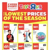 Toys R Us - 2 Week Event! - Lowest Prices of The Season Flyer