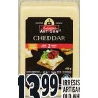 Irresistibles Artisan Old White Cheddar Cheese Aged 2 Years