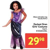 Darkest Siren Girls' Costume