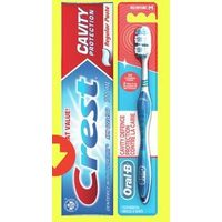 Crest Toothpaste Oral-B Toothbrush Cavity Defense
