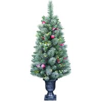 4' Pre-Lit Potted Artificial Christmas Tree
