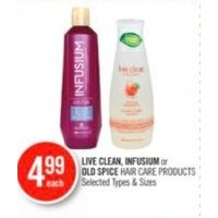 Live Clean, Infusium Or Old Spice Hair Care Products