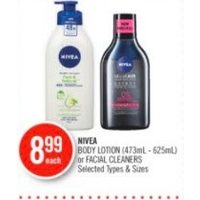 Nivea Body Lotion Or Face Cleaners