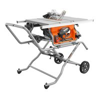 "Ridgid 10"" Portable Table Saw with Folding/Rolling Stand"