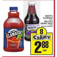 Mott's Clamato, Welch's Grape Juice