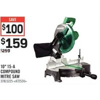 "Metabo HPT 10"" 15-A Compound Mitre Saw"