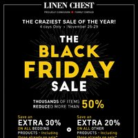 Linen Chest - The Black Friday Sale Flyer