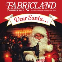 Fabricland - Members Only - Dear Santa... Flyer