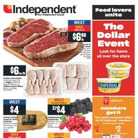 Your Independent Grocer - Weekly Specials - The Dollar Event Flyer