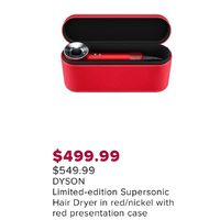 Dyson Supersonic Hair Dryer In Red/Nickel With Red Presentation Case