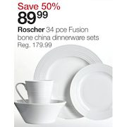 Home Outfitters Roscher 34 Pce Fusion Bone China Dinnerware Sets - $89.99 (50% Off) Roscher 34 Pce Fusion Bone China Dinnerware Sets - $89.99 (50% Off)  sc 1 st  RedFlagDeals.com & Home Outfitters: Roscher 34 Pce Fusion Bone China Dinnerware Sets ...
