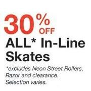 All In-Line Skates - 30% off