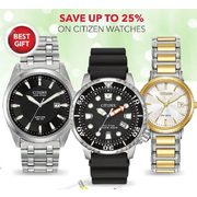 Citizen Watches - Up to 25% off