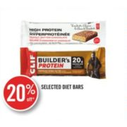 20% Off Selected Diet Bars