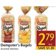 Dempster's Bagels  - $2.79/6 ct ($1.20 off)