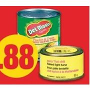 Del Monte Vegetables or No Name Tuna - $0.88