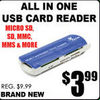 All In One USB Card Reader - $3.99