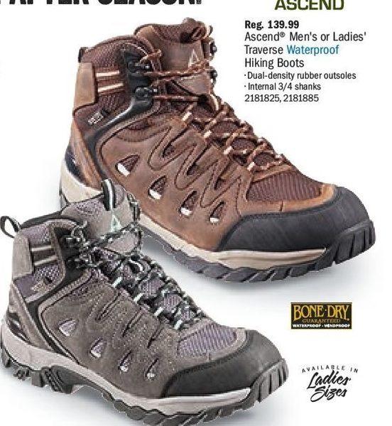 31267beb4ae Bass Pro Shops: Ascend Men's Or Ladies' Traverse Waterproof Hiking ...