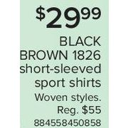 Black Brown 1826 Short-Sleeved Sport Shirts - $29.99