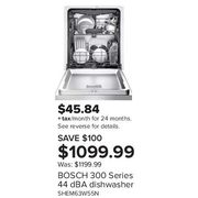 Bosch 300 Series 44 dBA Dishwasher