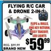 Flying R/C Car & Drone 2-In-1 - $59.99