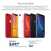 Bell iPhone XR 64GB - $49.99 w/ Select 2-yr Ultra Plans - $50.00 off