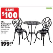 3 Pc. Buckingham Bistro Set - $199.97 (Save $100.00)