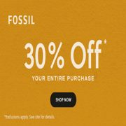 Fossil: 30% off Your Entire Purchase