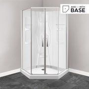 "38"" X 38"" Neo-angle Shower Kit With Door, Base And Walls - $1,257.00 ($540.00 Off)"