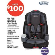 Graco Nautilus 65 3-in-1 Harness Booster Lustre - $199.97 ($100.00 off)