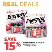 Energizer Batteries - 15% off