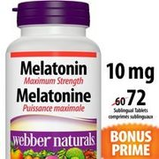 Webber Naturals Melatonin Or Vitamin C - $9.97 ($2.50 off)